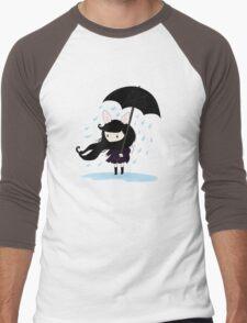 why does it always rain on me? Men's Baseball ¾ T-Shirt