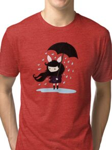 why does it always rain on me? Tri-blend T-Shirt