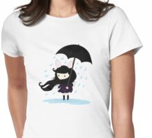why does it always rain on me? Womens Fitted T-Shirt