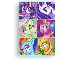 Rainbow Power Ponies Canvas Print