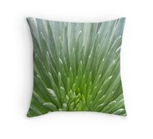 Silver Spines Throw Pillow