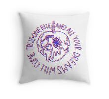 bad apple Throw Pillow