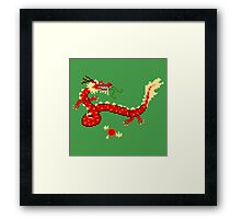 8-Bit Dragon Framed Print