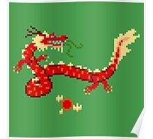 8-Bit Dragon Poster