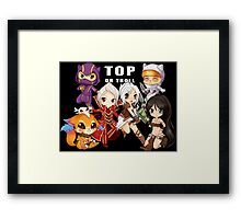Top or Troll - chibi League of Legends Framed Print