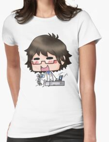 And Otacon is his name Womens Fitted T-Shirt