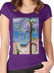 Tree In The Desert Women's Fitted Scoop T-Shirt