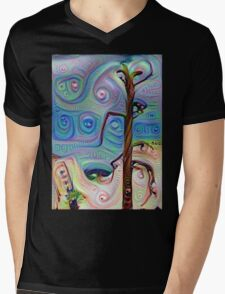 Tree In The Desert Mens V-Neck T-Shirt