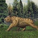 Smilodon (Saber Tooth Tiger) by Walter Colvin