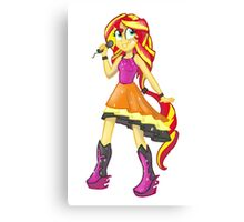 Sunset Shimmer Rainbow Rocks Canvas Print