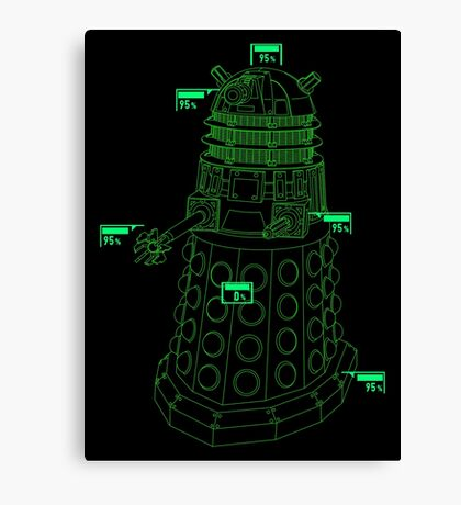 Exterminate the Robot - Dark Canvas Print