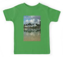 Tropical Vacation - Swaying palms and Crystal Clear Water Kids Tee
