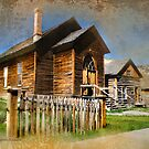 Church in Bannack, Montana by Kay Kempton Raade