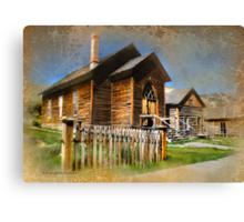 Church in Bannack, Montana Canvas Print