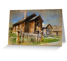 Church in Bannack, Montana Greeting Card