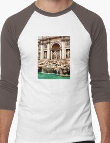 Trevi Fountain Men's Baseball ¾ T-Shirt