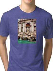 Trevi Fountain Tri-blend T-Shirt