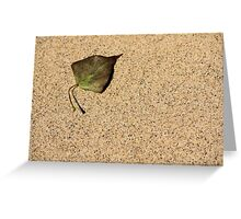 Sandy Leaf Greeting Card