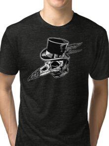 Crow Skull Top Hat Tri-blend T-Shirt
