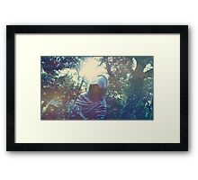 Haunted Statue Framed Print