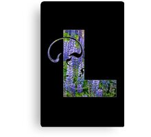 L is for lupin Canvas Print
