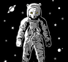 Cat Astronaut Spaceman by pda1986