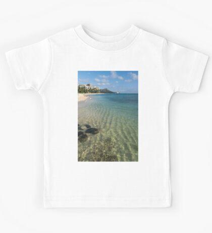 Waikiki Beach Sea and Sunshine Kids Tee