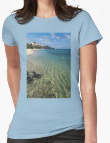 Waikiki Beach Sea and Sunshine Womens Fitted T-Shirt