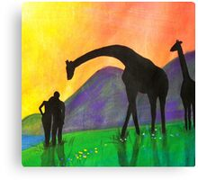 Adam & Eve watching the sunset - Day 7 - 'Creation' Mural Canvas Print