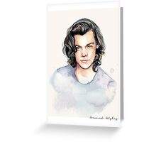 H watercolors II Greeting Card