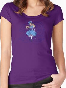 Steampunk Alice - Revised Women's Fitted Scoop T-Shirt