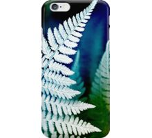 Blue Fern Leaf Art iPhone Case/Skin