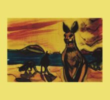 Kangas on beach Kids Tee