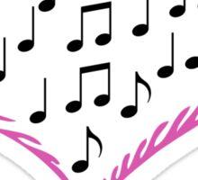 Music is in my Heart Sticker