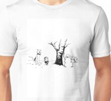Jon and Ghost (Black and White) Unisex T-Shirt