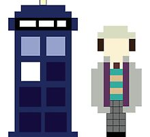 Pixel 7th Doctor and TARDIS by ObscureM
