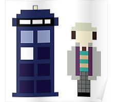 Pixel 7th Doctor and TARDIS Poster
