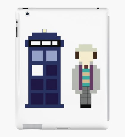 Pixel 7th Doctor and TARDIS iPad Case/Skin