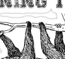 Sloth Running Team Sticker