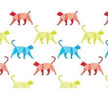 Cats of all colors.  White addition. Photographic Print