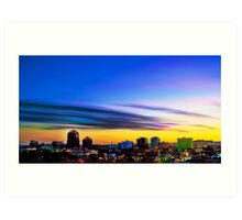 The Color of Downtown Albuquerque Art Print