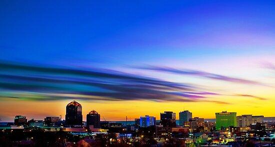 The Color of Downtown Albuquerque by IOBurque