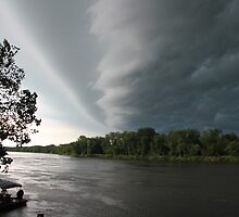 Summer Storm in Iowa on the Cedar River by Patricia Cleveland