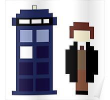 Pixel 8th Doctor and TARDIS Poster