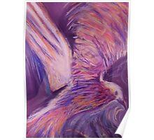 Purple bird Poster