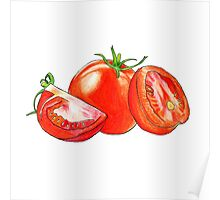 Sliced Tomatoes Poster