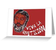 (Polka Dot) Zizek : Viva la Repeticion ! Greeting Card