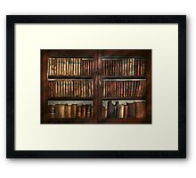 Librarian - In the library Framed Print