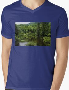 Quiet Rain and Forest Fairies  Mens V-Neck T-Shirt