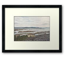 Between Plates Framed Print